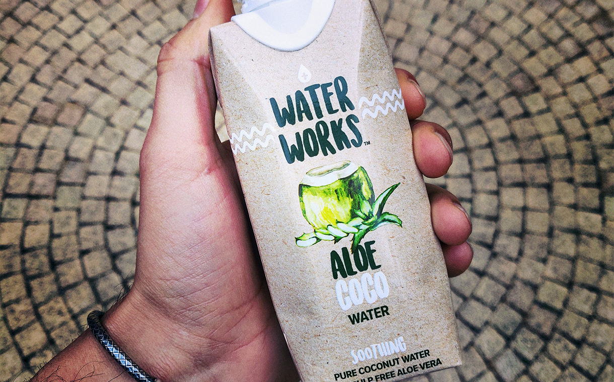 Water Works debuts aloe-coco combo and cartoned spring water