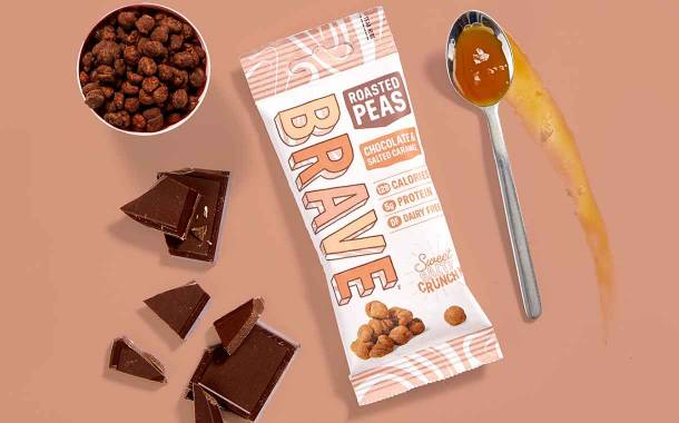 Brave introduces new chocolate and salted caramel roasted peas