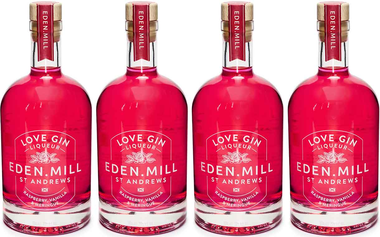 Eden Mill introduces Love Gin Liqueur ahead of Valentine's Day