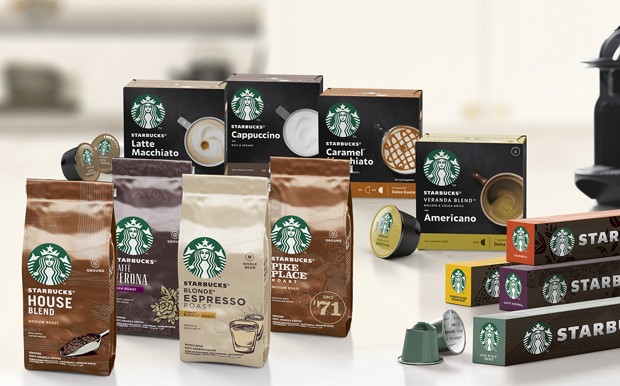 Nestlé launches first range of Starbucks-branded coffee items