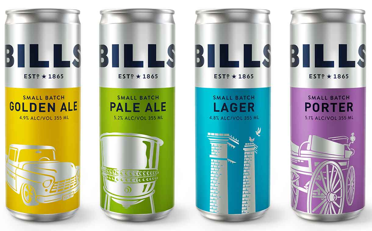 Billson's debuts alcoholic drinks with designs by Cowan London