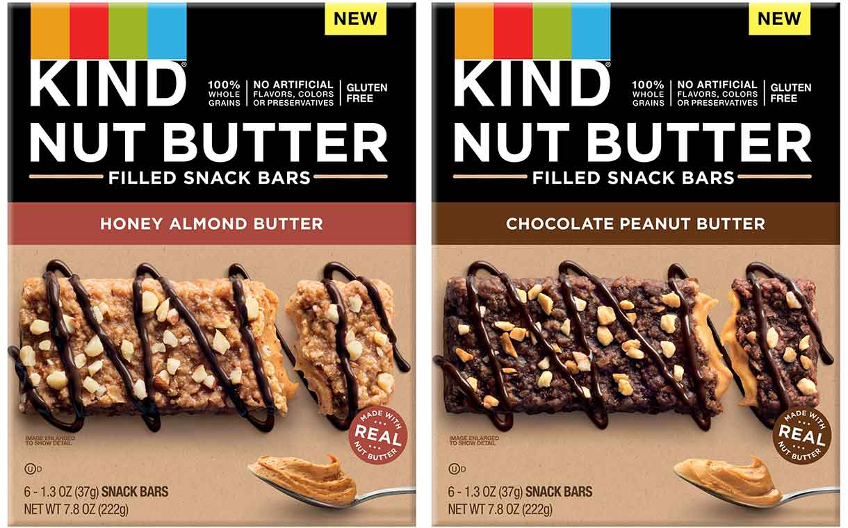 Kind introduces two-strong line of Nut Butter Filled Snack Bars