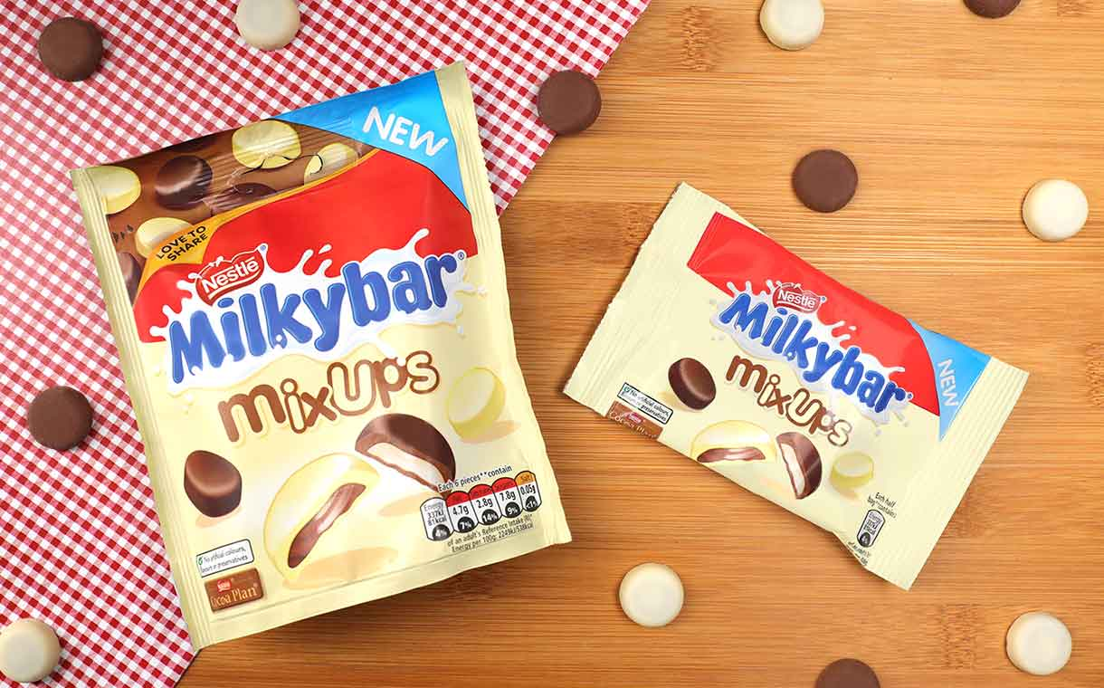 Nestlé's new Milkybar Mix Ups blend milk and white chocolate