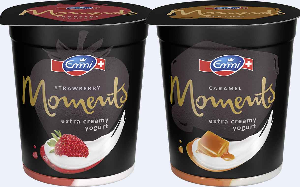 Emmi releases Moments yogurt range with high cream content