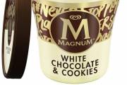 Magnum unveils new white chocolate cookie ice cream range