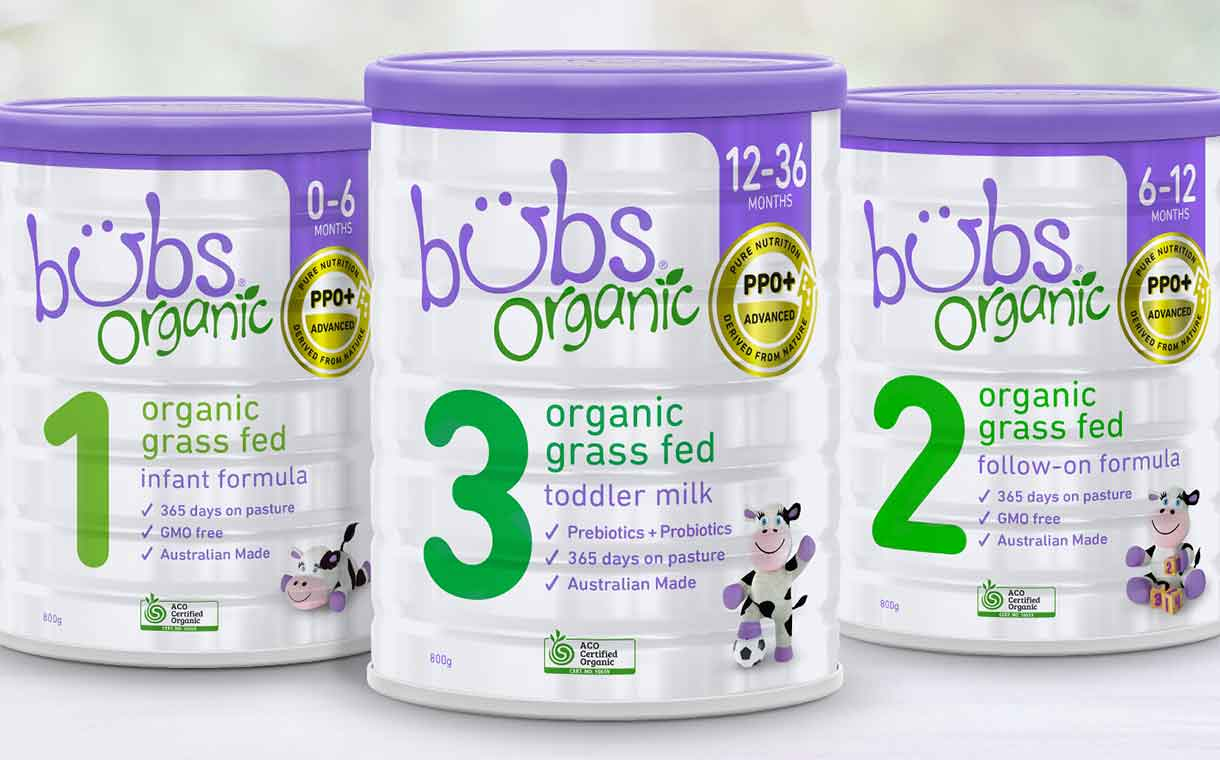 Bubs partners with Fonterra to launch new grass-fed formula