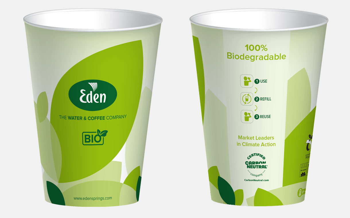 Eden Springs launches new compostable paper cup