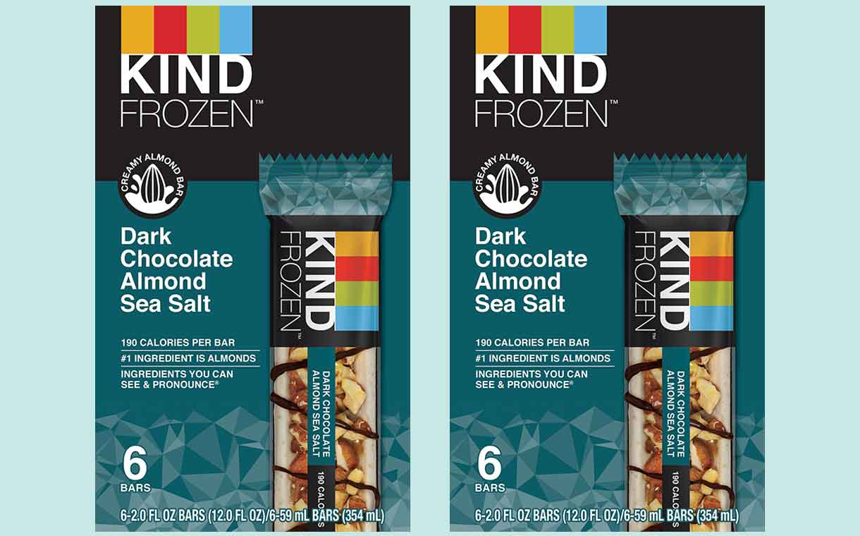 Frozen snack bars: Kind releases new product made with almonds