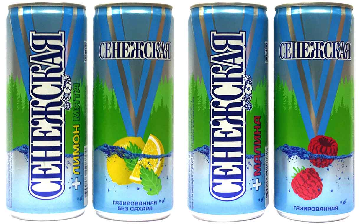 Senezhskaya uses Ball slim cans for new flavoured water range