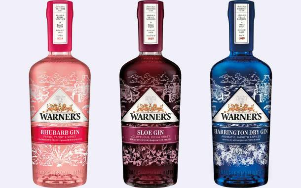 Warner's updates brand identity and adds new gin bottle designs