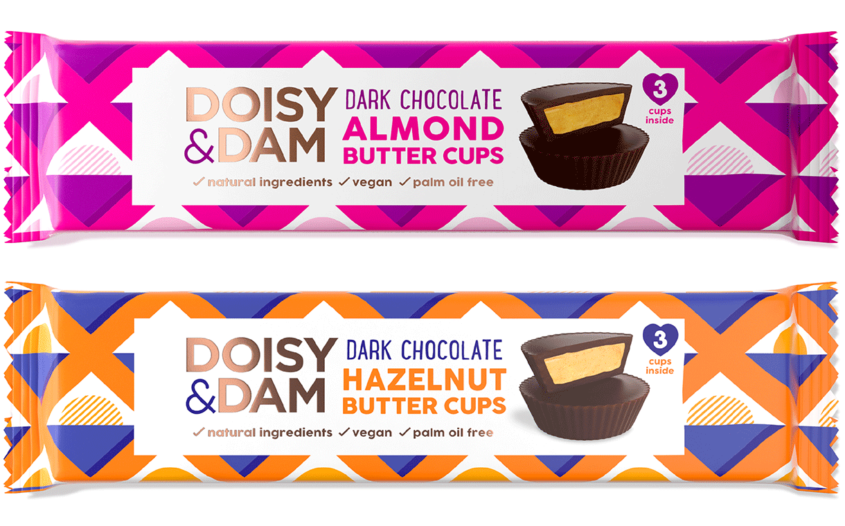 UK chocolate firm Doisy & Dam launches Nut Butter Cups range