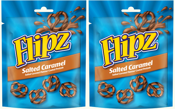 Pladis adds to Flipz range in UK with new salted caramel pretzels