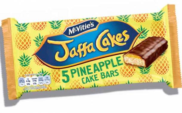 Pladis introduces limited-edition Jaffa Cakes pineapple cake bars