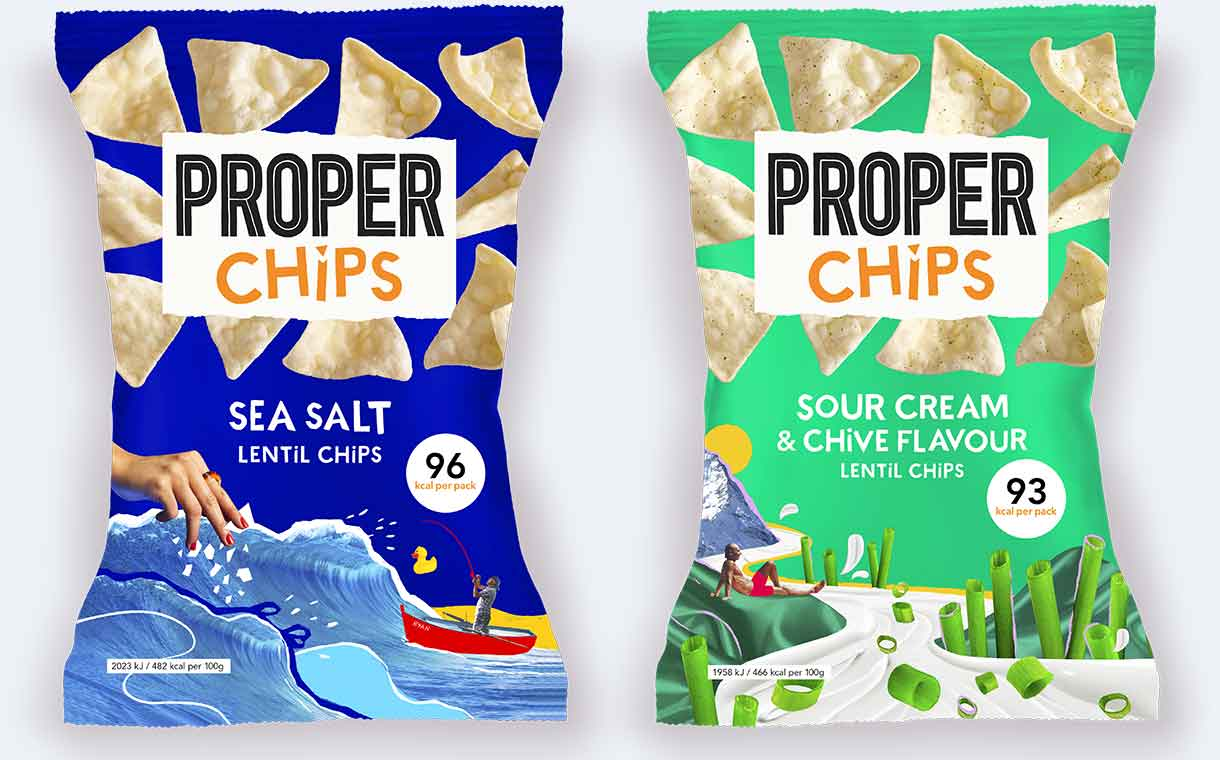 Propercorn rebrands as Proper to coincide with lentil chip launch