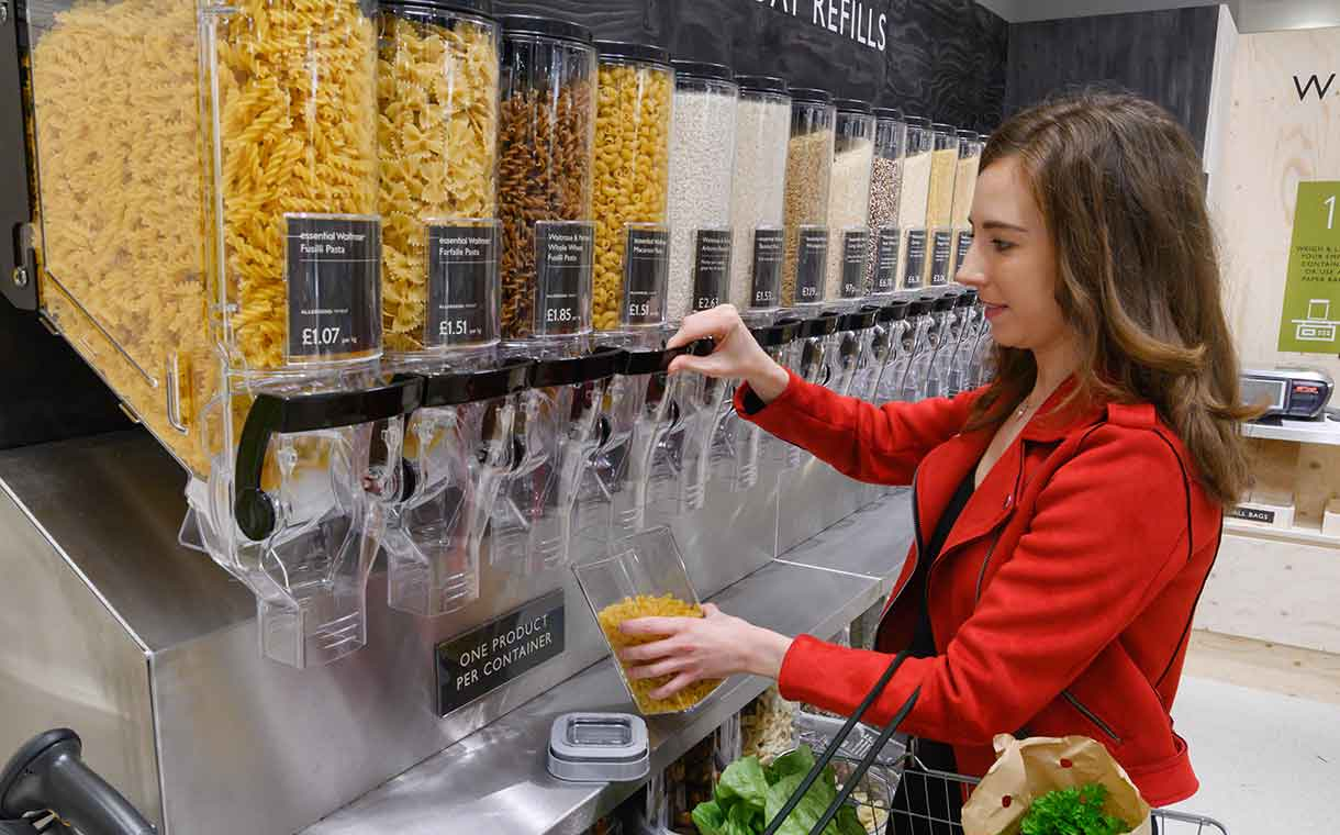Waitrose begins packaging-free trial in move to cut plastic waste