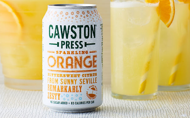 Cawston Press releases new sparkling orange flavour in the UK