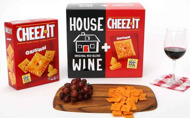 Kellogg pairs Cheez-It crackers with House Wine in combo box