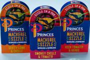 Princes launches Infused Tuna Fillets and Mackerel Sizzle lines