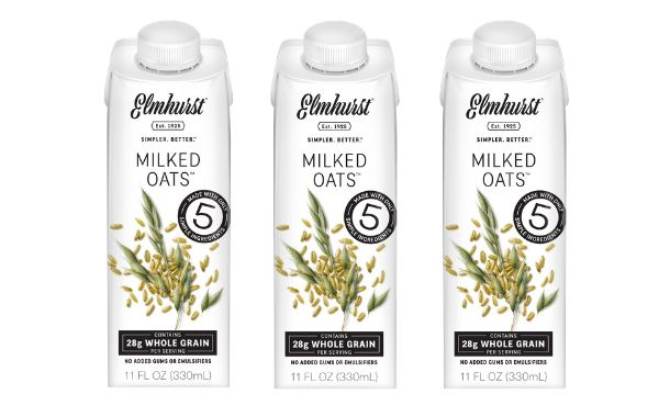 Elmhurst 1925 debuts single serve oat milk for on-the-go drinking