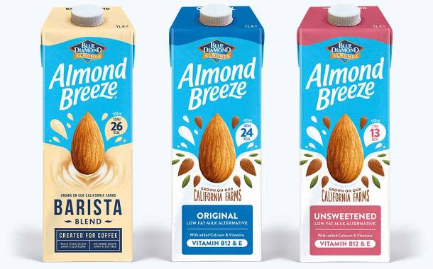 Blue Diamond introduces new look for Almond Breeze range