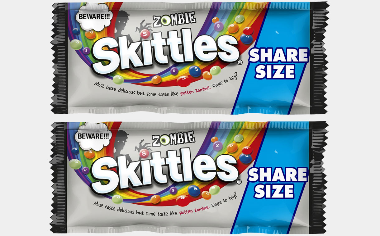 Mars releases 'utterly disgusting' Zombie Skittles for Halloween