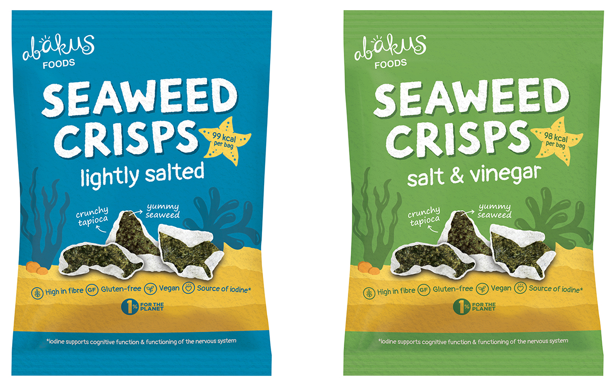 Abakus Foods introduces three-strong range of Seaweed Crisps