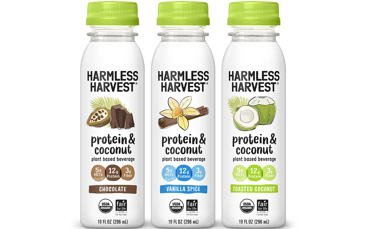 Harmless Harvest debuts Protein & Coconut plant-based beverages