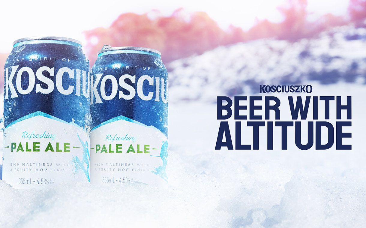 Lion adds colour-changing ink to Kosciuszko Pale Ale packaging