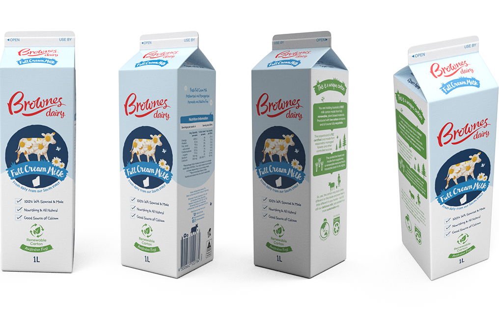 Brownes Dairy switches to Tetra Rex Bio-based packages for milk