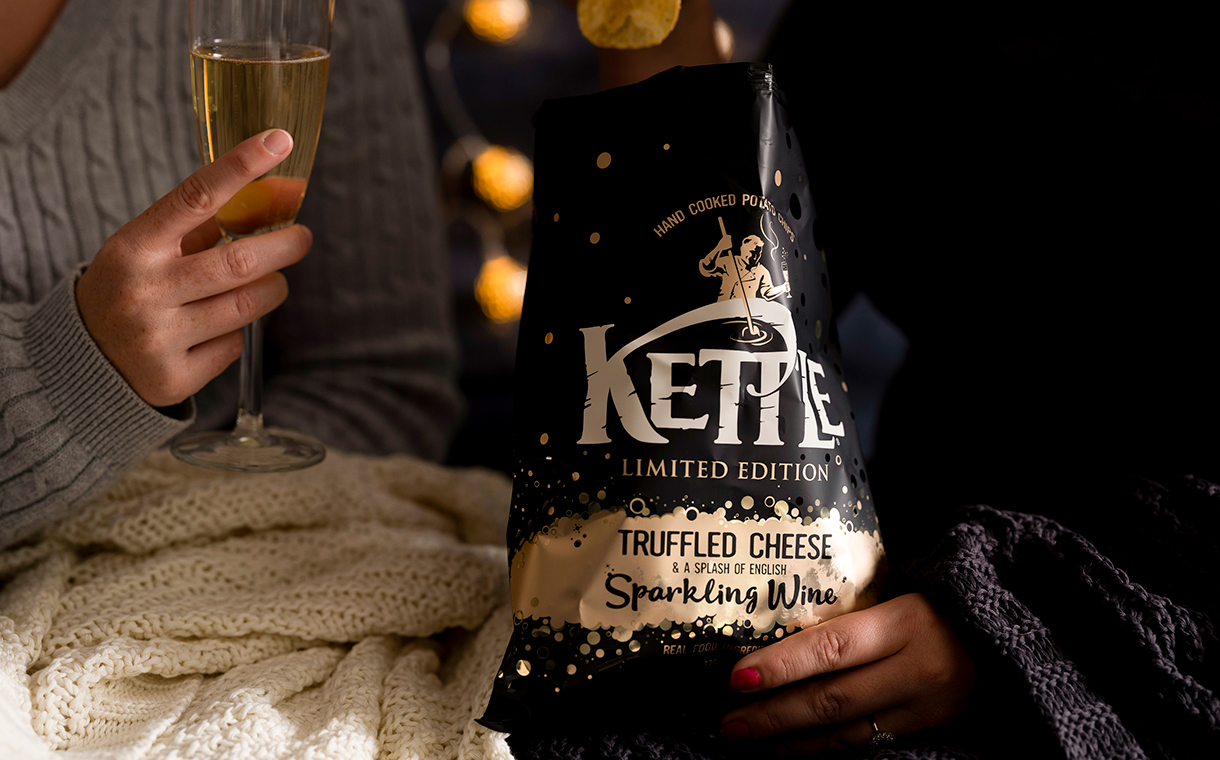 'Very British chip': Kettle debuts cheese and wine crisp flavour