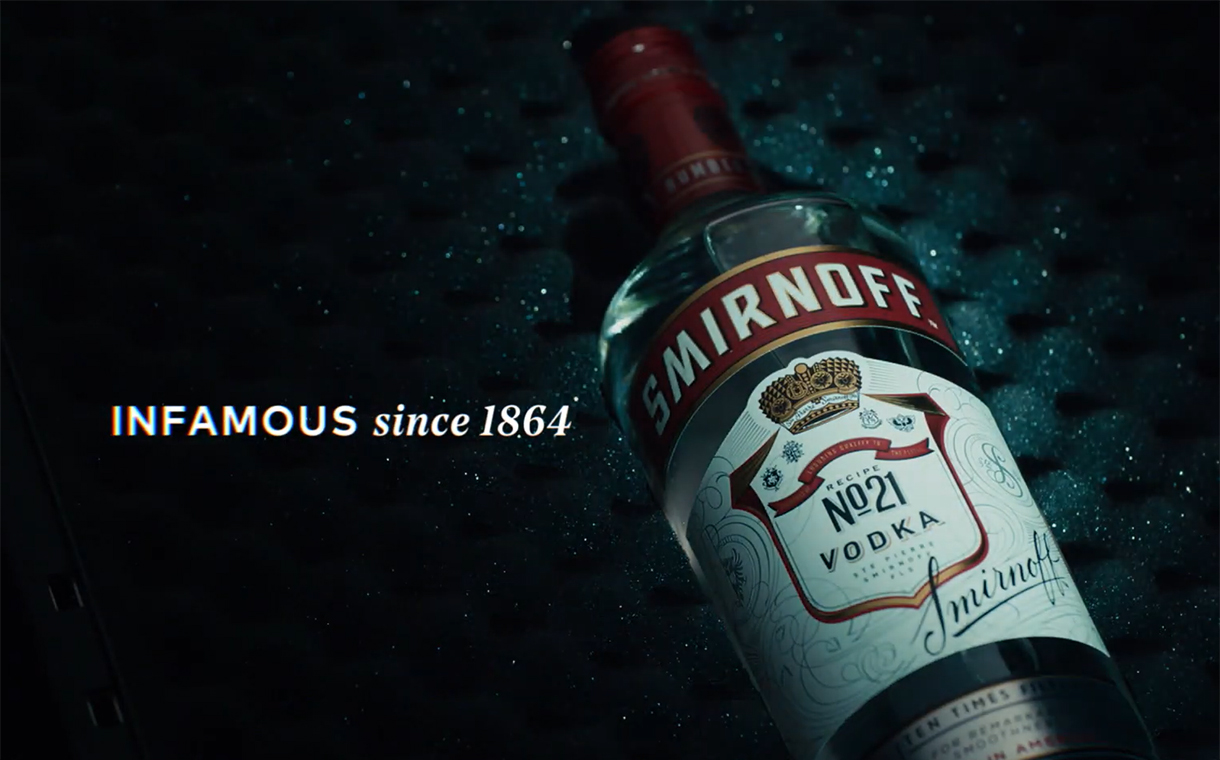 'Infamous Since 1864': Diageo launches new Smirnoff campaign