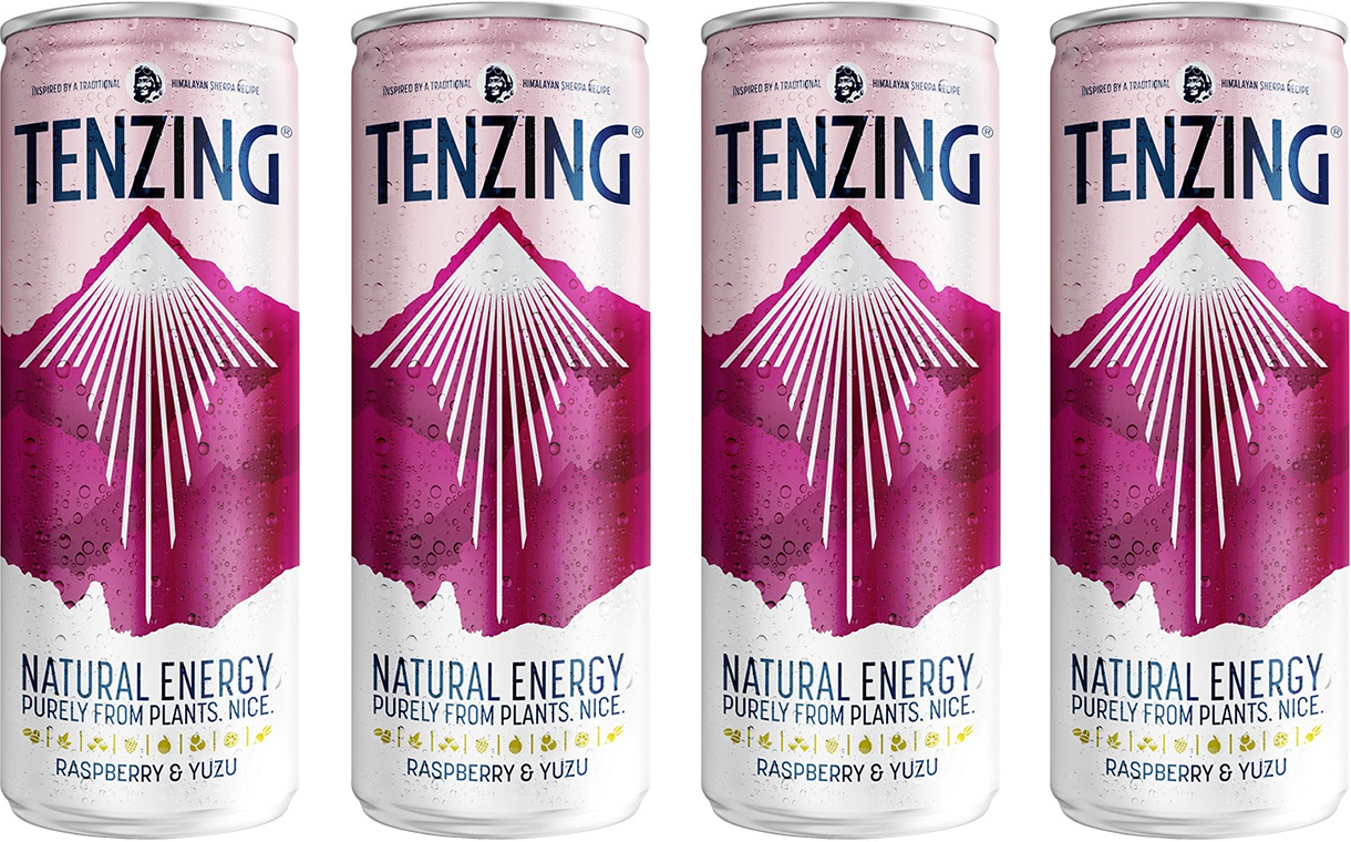 Tenzing debuts natural energy drink with raspberry and yuzu