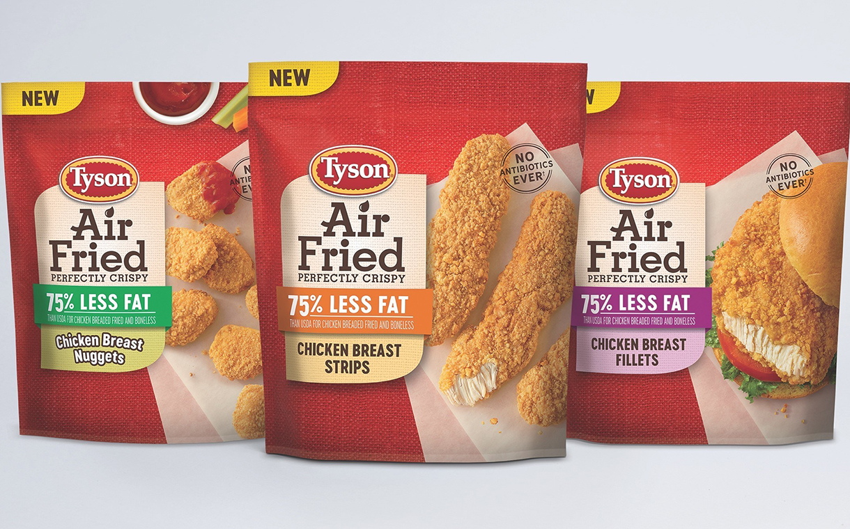 Tyson Foods introduces three-strong Air Fried Chicken range