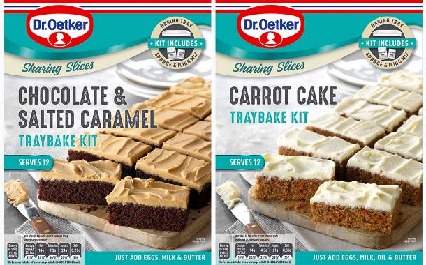 Dr. Oetker introduces three traybake cake mixes in the UK