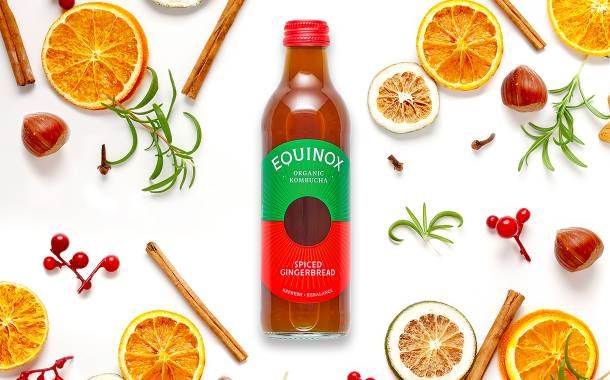 Equinox Kombucha unveils festive spiced gingerbread flavour