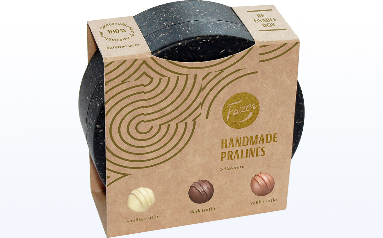 Fazer, Sulapac partner to create compostable box for pralines