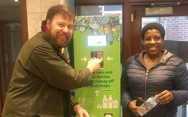 Hackney Council installs 'first' reverse vending machine on UK estate