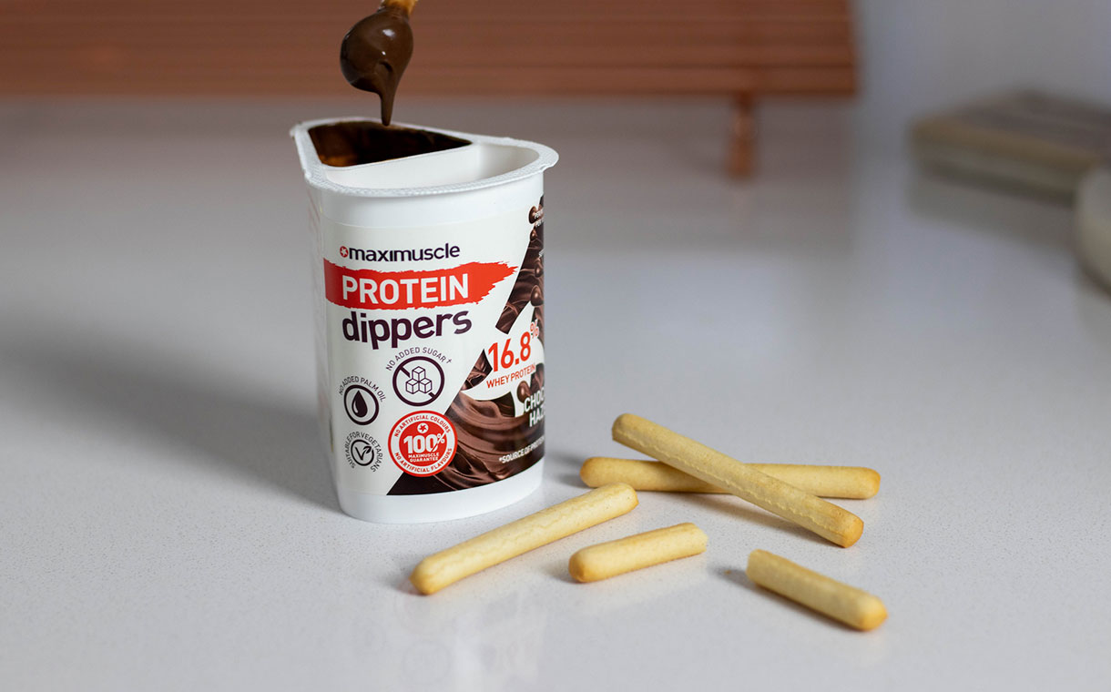 Maximuscle to release high-protein chocolate dippers