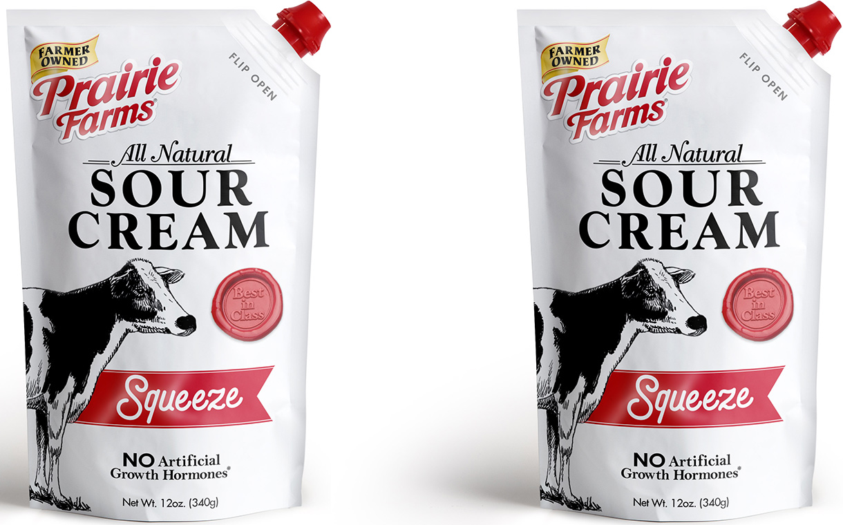 Prairie Farms Dairy introduces sour cream pouches in the US