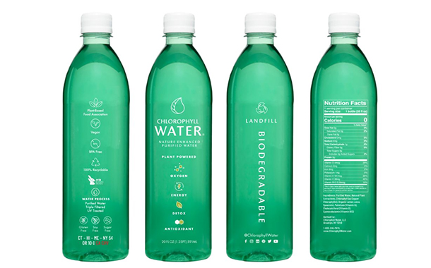 Chlorophyll Water releases landfill biodegradable bottle