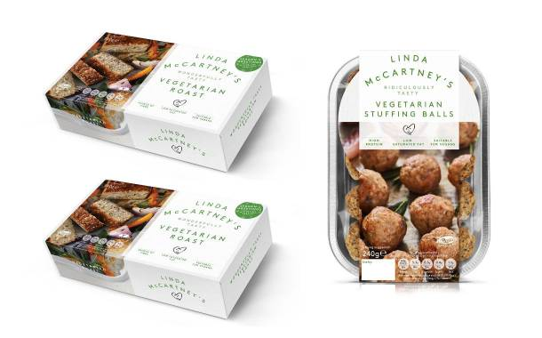Linda McCartney's debuts three festive vegetarian products