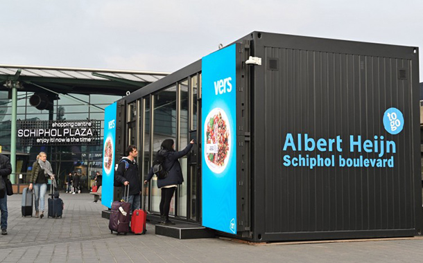 Albert Heijn begins testing of digital store at Schiphol airport