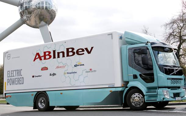 AB InBev to deliver beers using electric Volvo trucks next year