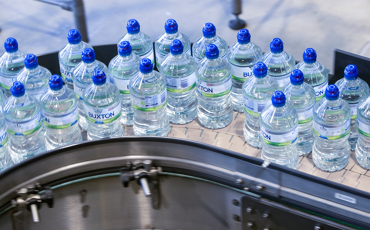 Nestlé to package Buxton water in 100% recycled plastic bottles