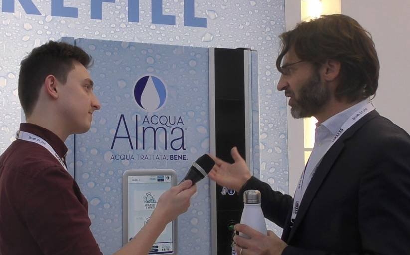 Interview: Cosmetal showcases its Acqua Alma Point refill station