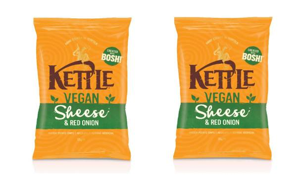 Kettle Chips unveils 'sheese and red onion' flavour for Veganuary