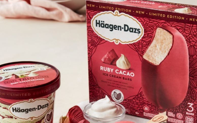 Häagen-Dazs launches limited-edition ruby cacao collection