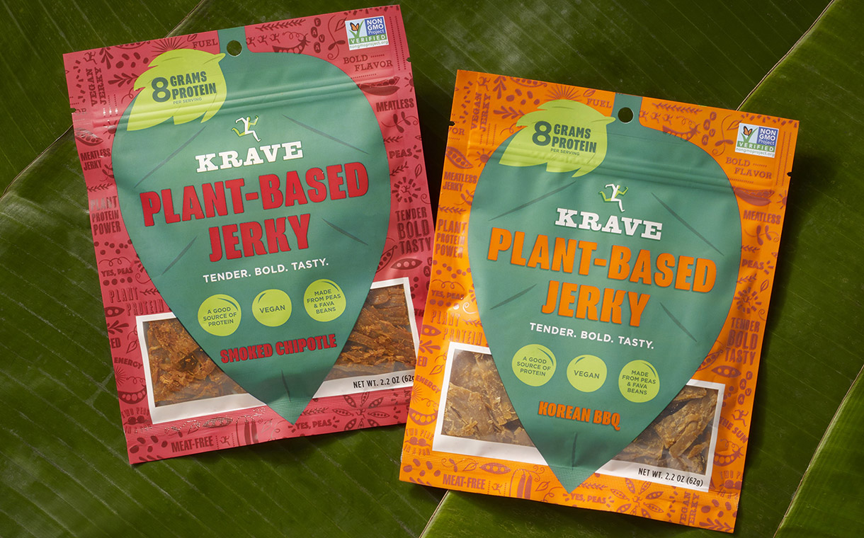 Krave enters vegan market with launch of plant-based jerky