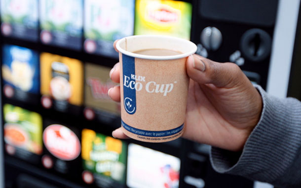 Lavazza Professional develops fully-recyclable paper cup for vending