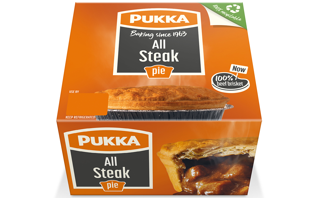Pukka debuts plastic-free packaging for pie portfolio